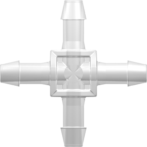 1//16 ID Tubing 25-Pack Natural Kynar PVDF Value Plastics N004-J1A Straight Through Tube Fitting with 500 Series Barbs 1.6 mm